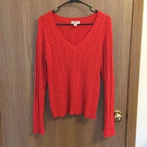 Red Arizona Knitted V-Neck Sweater